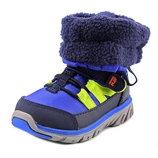 Stride Rite M2P Sneaker Boot Youth Round Toe Synthetic Blue Winter Boot (Option: Snow)