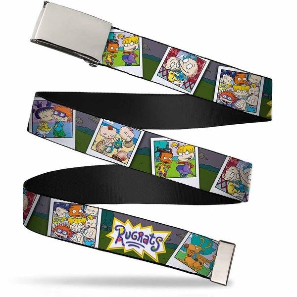 Blank Chrome Buckle Rugrats Character Snapshots Webbing Web Belt - S