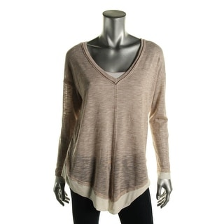 Splendid Womens V-Neck Layered-Look Casual Top