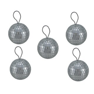 Set of 6 Hanging Mirrored Disco Ball Ornaments 3 inch