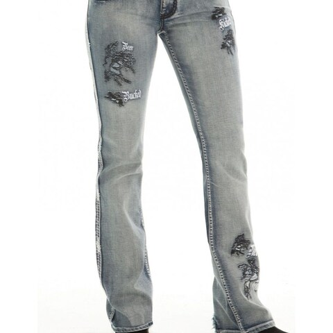 Cowgirl Tuff Western Denim Jeans Womens Buckin UnBELIEVEable II