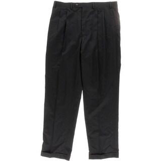 Chaps Mens Wool Solid Dress Pants - 38/34