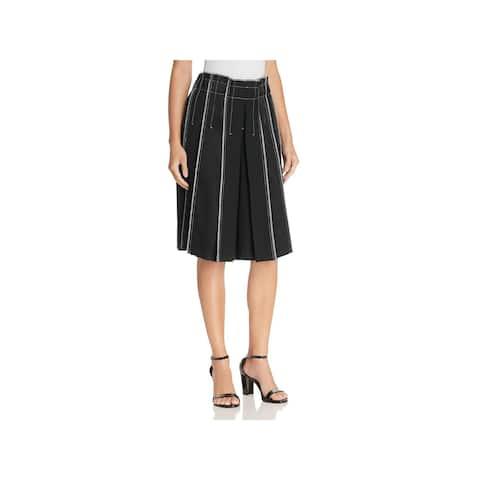 DKNY Womens Wide Leg Shorts Wool Pleated