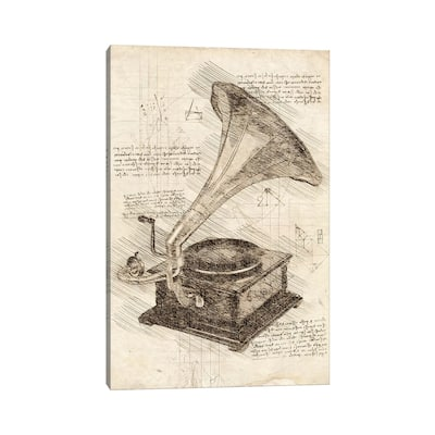 "iCanvas ""Gramophone"" by Cornel Vlad Canvas Print"