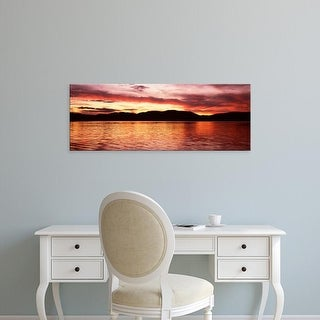 Easy Art Prints Panoramic Image 'Lake with mountains, Fourth Lake, Adirondack Mountains, New York' Canvas Art