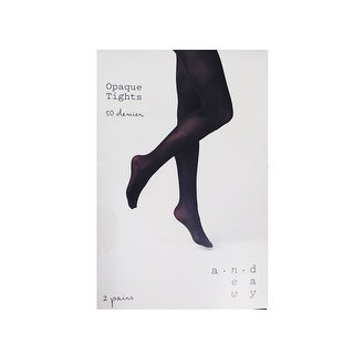 A New Day Women 2-Pairs Opaque Tights 50D - 1x