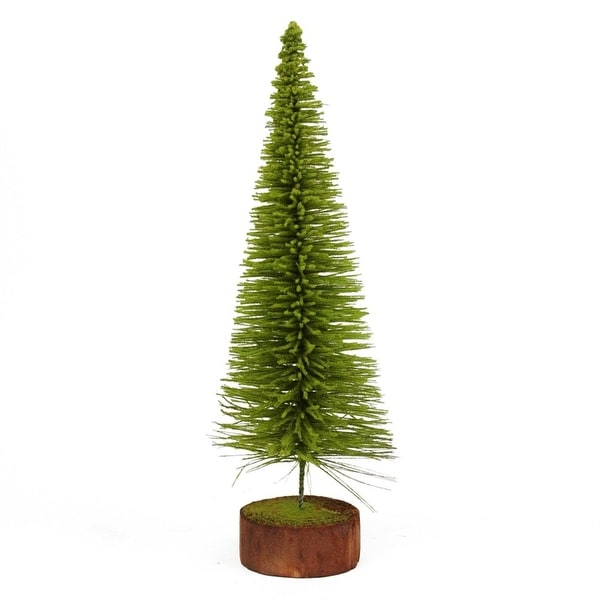 "20"" Moss Green Pine Artificial Village Christmas Tree with Wood Base - Unlit"