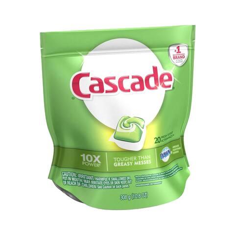 Cascade 80675 Dishwasher Detergent, 20 Count