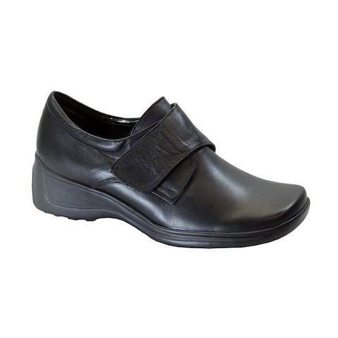 24 HOUR COMFORT Jania Womens Extra Wide Width Leather Shoes