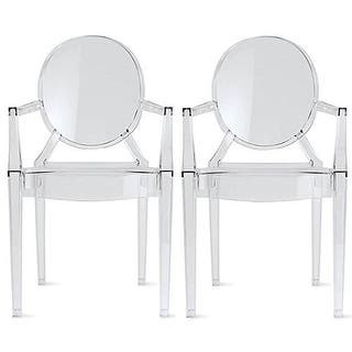 2xhome Set Of 2 Modern Accent Dining Chair With Arms Armrest Stackable Plastic Chairs Home