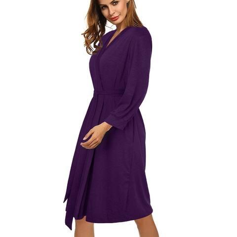 Women's Bathrobe Soft Cotton Kimono Robes Spa Robe Comfy Sleepwear