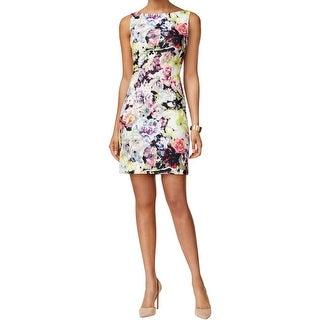 Tahari ASL Womens Nina Casual Dress Floral Print Sleeveless