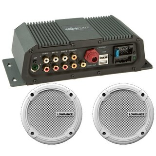 "Lowrance 000-12301-001 SonicHub 2 Marine Audio Server w/ 6.5"" Speakers Compatible"