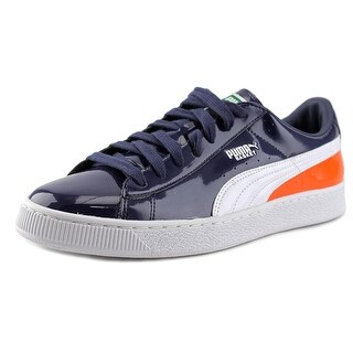Puma Basket Matte & Shine Round Toe Patent Leather Sneakers