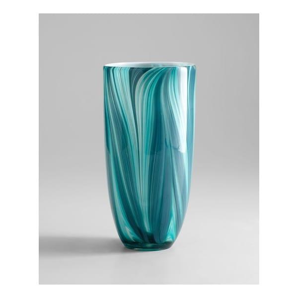 "Cyan Design 5182 11.81"" Large Turin Vase - Turquoise blue - N/A"