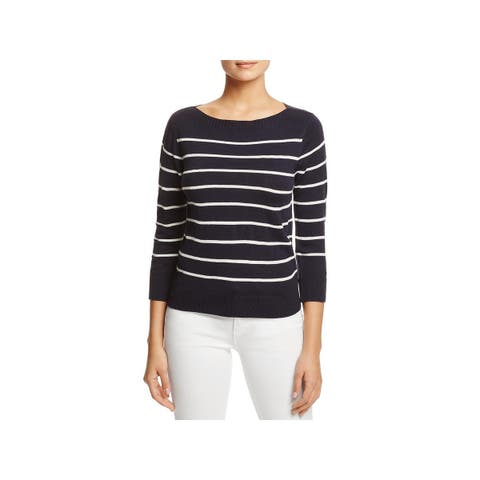 Cupcakes and Cashmere Womens Reynolds Pullover Sweater Striped Boatneck