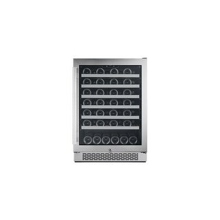 """Avallon AWC241SZRH 24"""" Wide 54 Bottle Capacity Single Zone Wine Cooler with Right Swing Door - Stainless Steel - N/A"""