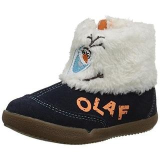 Stride Rite Disney Frozen Olaf Infant Boys Suede Winter Boots