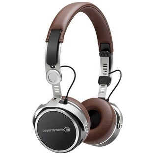 Aventho Wireless Mobile Bluetooth Headphones with Sound Personalization (Brown)