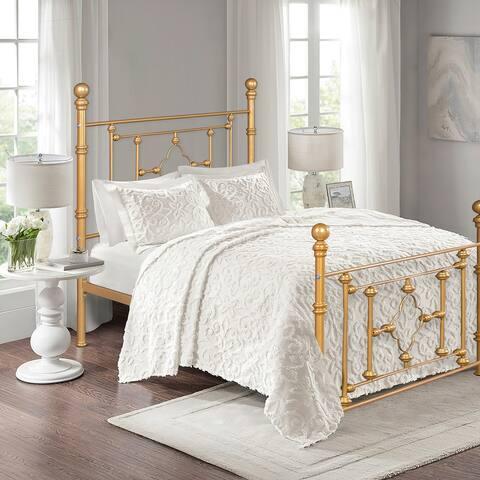 Furniture R Industrial Metal Standard Bed Frame Glod Finish