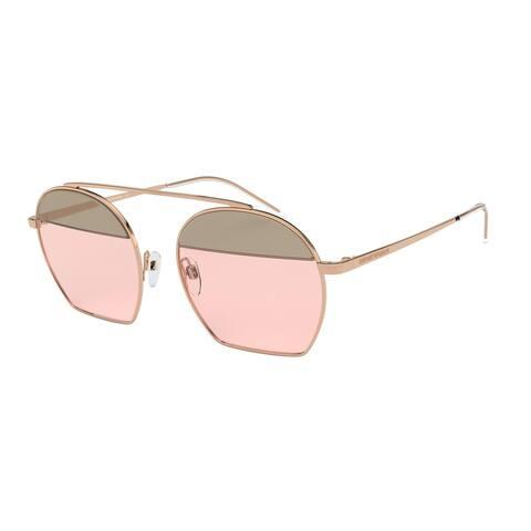 Emporio Armani EA2086 3167/5 56 Rose Gold Woman Irregular Sunglasses