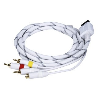 MonopriceAV Cable w/ Composite (Yellow RCA)/S-Video and Stereo Audio (Red/White) for Wii & Wii U- Net Jacket and Gold Plated