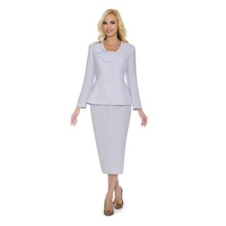 Giovanna Signature Women's Mock 3-piece Skirt Suit with Bow Detail