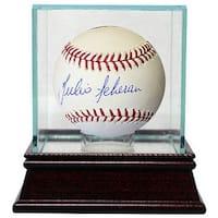 Julio Teheran signed Rawlings Official Major League Baseball w Glass Case Atlanta Braves