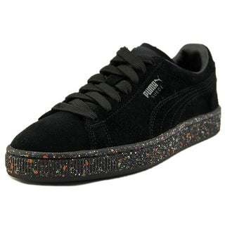 Puma Suede Classic Multi Splatter Youth Round Toe Suede Black Sneakers