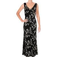Lauren Ralph Lauren Womens Formal Dress Sequined Embroidered