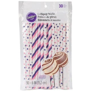 "Lollipop Sticks 6"" 30/Pkg-Pink & Purple"