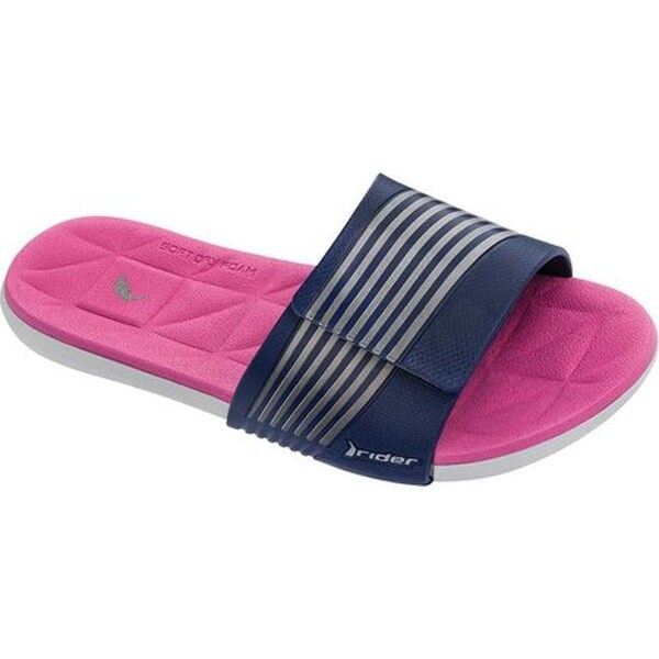 ca9dd81f12293c Shop Rider Women s Prana Slide Sandal Grey Blue Pink - Free Shipping On  Orders Over  45 - Overstock - 20296982