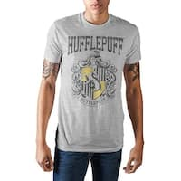 Harry Potter Hogwarts School of Witchcraft and Wizardry Hufflepuff House Crest Men's T-shirt