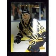 Signed Stevens Kevin Pittsburgh Penguins 1995 Upper Deck Hockey Card autographed