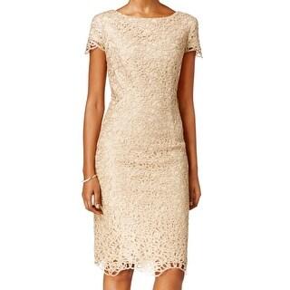 Alexon lace top ottoman dress