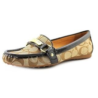 Coach Felisha Women Moc Toe Canvas Brown Loafer