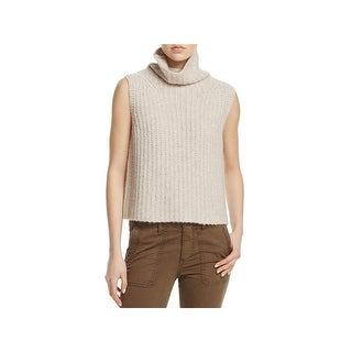 Vince Womens Sweater Sleeveless Mock Turtleneck - L