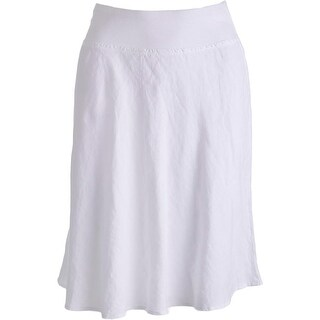 Three Dots Womens A-Line Skirt Linen Knee-Length