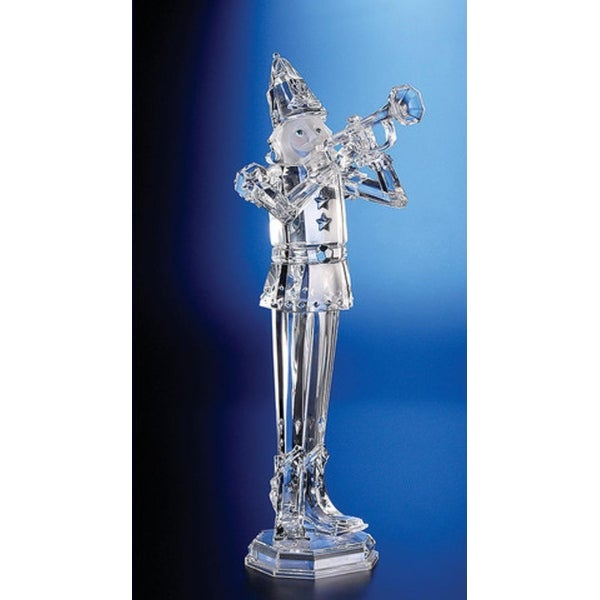 Pack of 2 Icy Crystal Decorative Christmas Nutcracker Trumpeters 18""