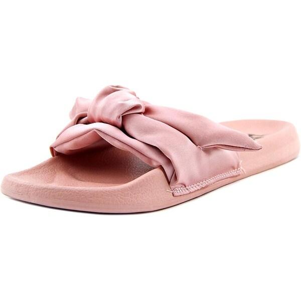 LFL Spice Women Open Toe Canvas Pink Slides Sandal