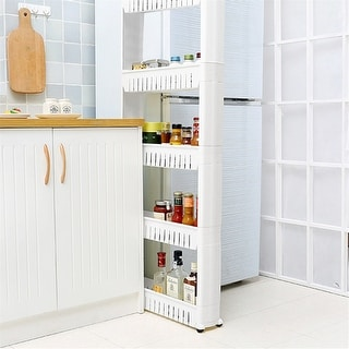 Link to 5 Tier Mobile Shelving Storage Tower Storage Tower Rack with Wheels Similar Items in Cycling Equipment