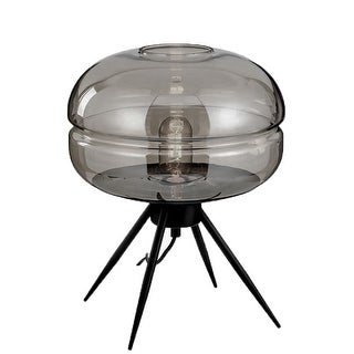 Link to Adina Mid-Century Modern Table Lamp with Glass Shade Similar Items in Table Lamps