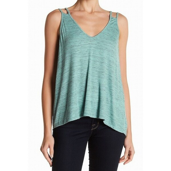 62d7e0b168e6e7 Shop Lush NEW Green Womens Size Large L Space-Dyed V-Neck Strappy Cami Top  697 - Free Shipping On Orders Over  45 - Overstock - 21594105