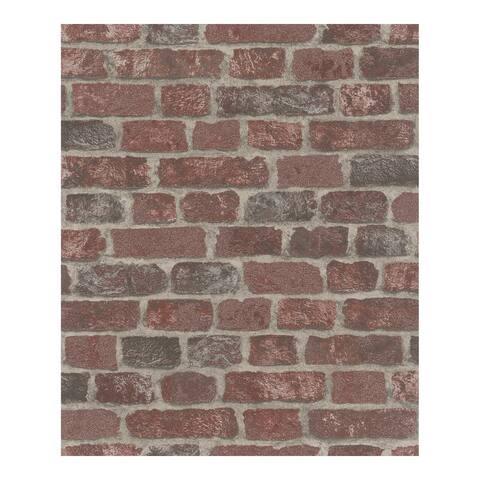 Granulat Red Stone Wallpaper - 20.5 x 396 x 0.025