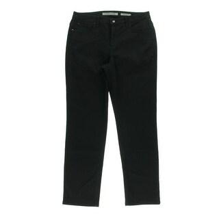 Jones New York Womens Gramercy Denim Slimming Straight Leg Jeans