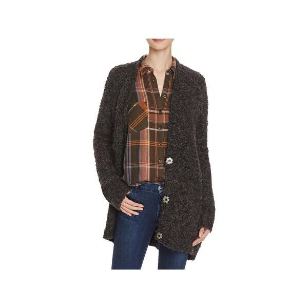 d6cba9f6b1 Shop Free People Womens Cardigan Sweater Boucle V-Neck - Free ...