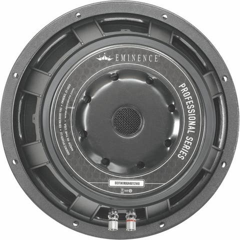 12-In Pro Woofer, 1200W Max, 8 Ohms W/Copper Voice Coil