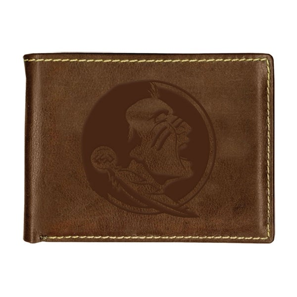 Florida State University Contrast Stitch Bifold Leather Wallet