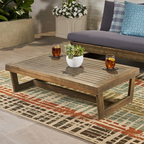 Sherwood Outdoor Acacia Wood Coffee Table by Christopher Knight Home. Opens flyout.