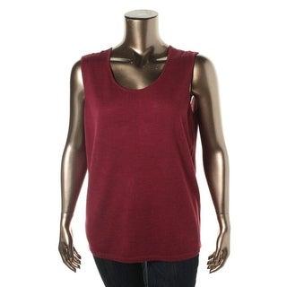 Eileen Fisher Womens Merino Wool Sleeveless Tank Top Sweater - XXS